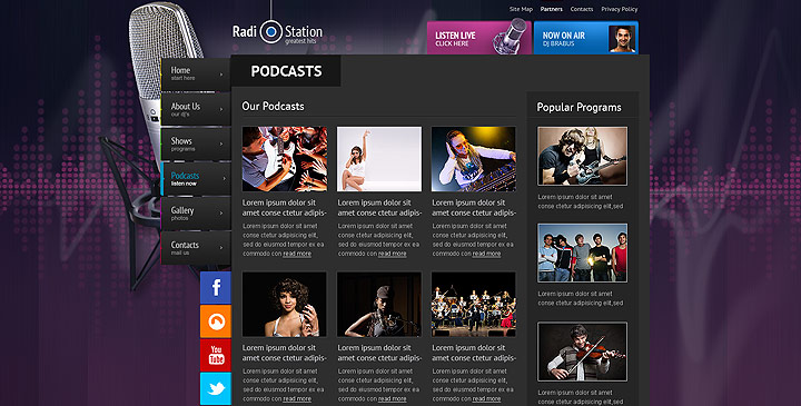 radio streaming web site